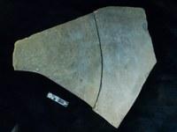 Engraved psammite slab (2 pieces)