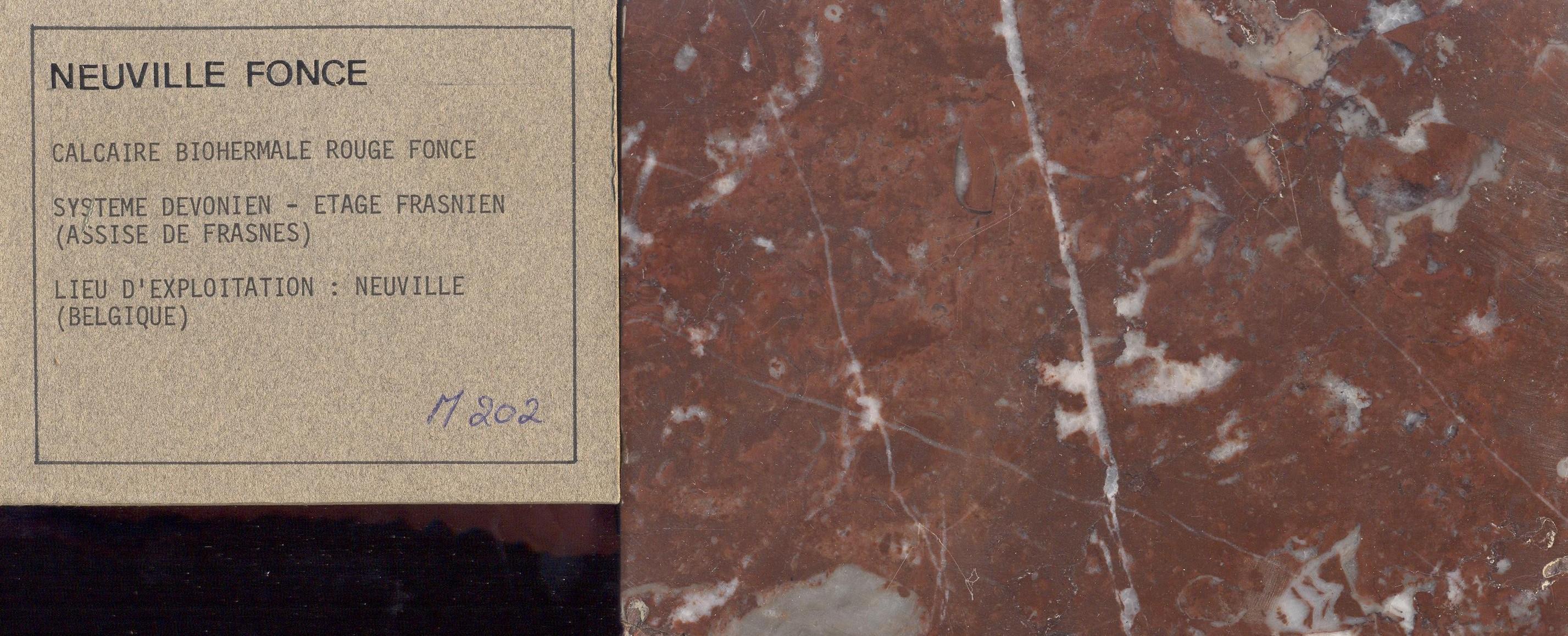 Neuville Fonçé (rouge griotte) M202