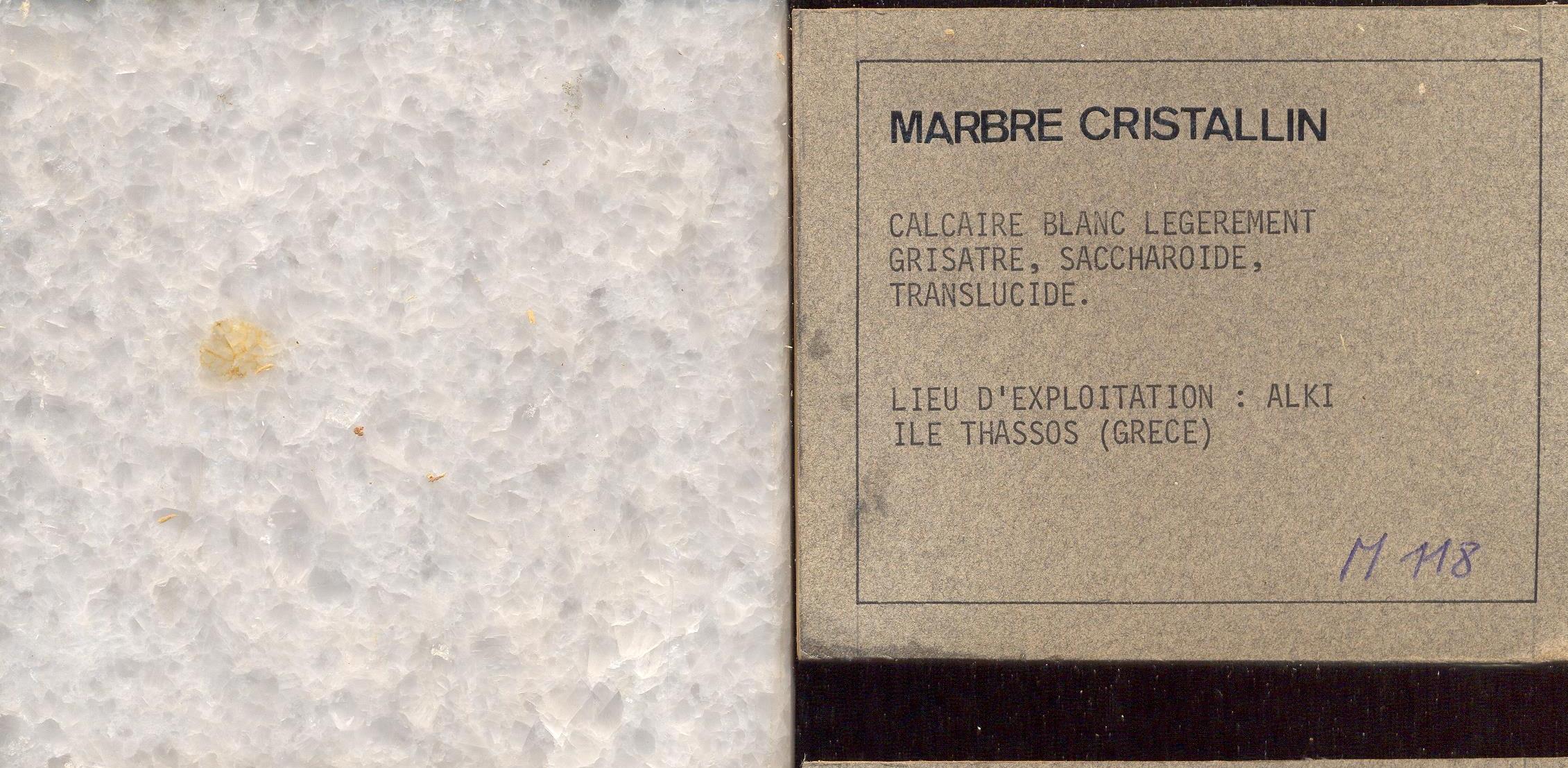 Blanc Cristallin Greece M118
