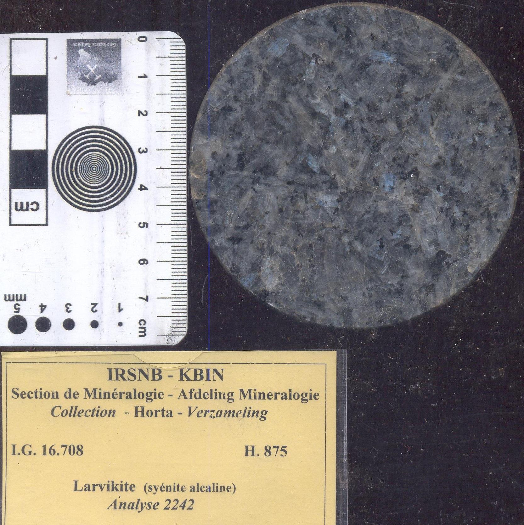 Syenite larvikiet alkali H875