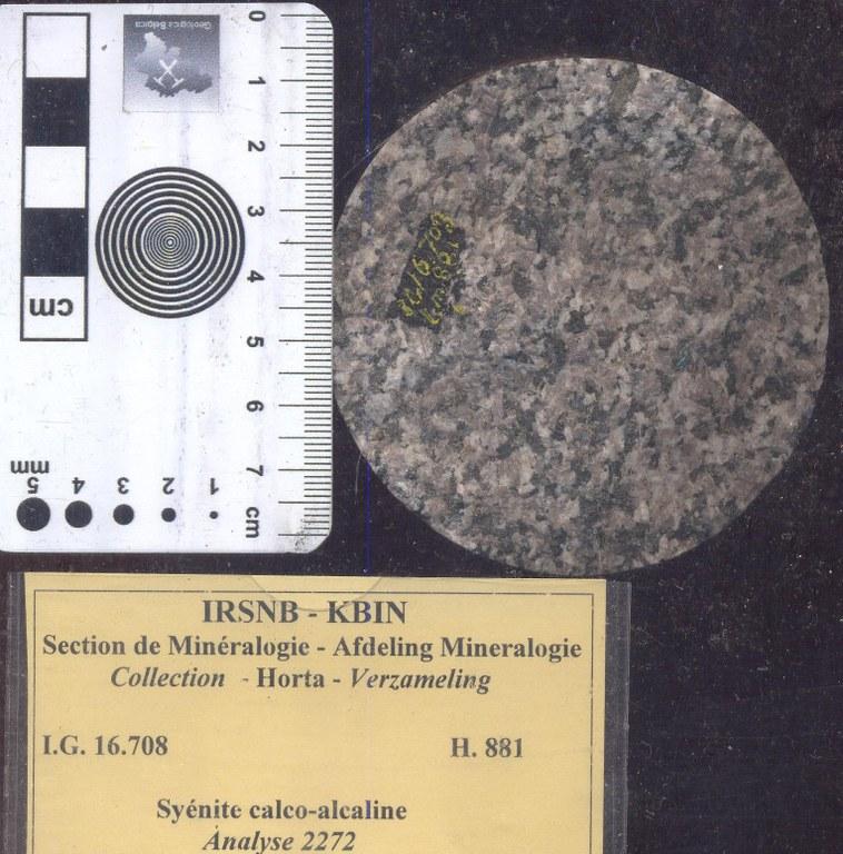 Orthosyenite (kalkalkali syeniet) H881