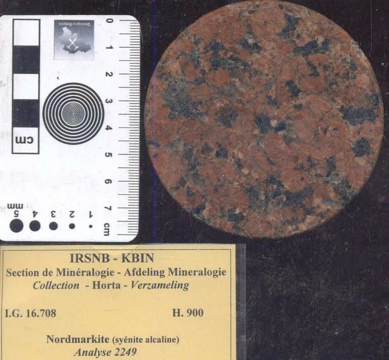 Syenite nordmarkiet alkali H900